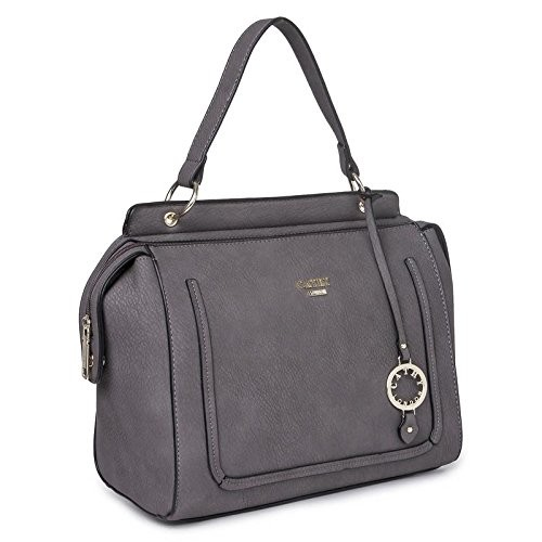 Cathy London Women's Handbag, Material- Synthethic Leather, Colour- Grey
