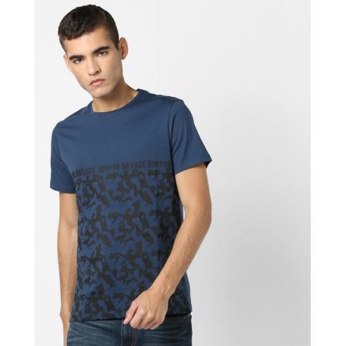 AJIO Graphic Print Crew-Neck T-shirt