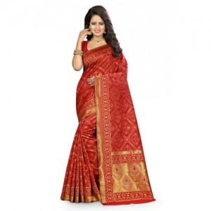 Kala Laya Red Kanjivaram Silk Saree