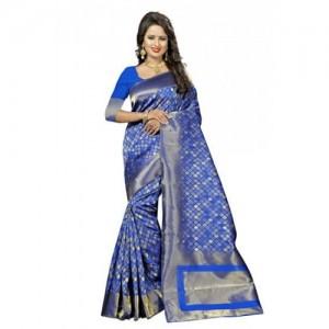 Kala Laya Blue Kanjivaram Silk Saree