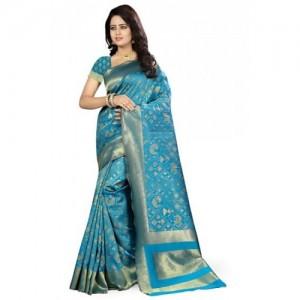 Kala Laya Turquoise Kanjivaram Silk Saree