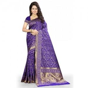 Kala Laya Purple Kanjivaram Silk Saree