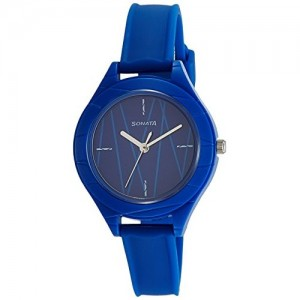 Sonata Color Pop Analog Blue Dial Girls Watch-87023PP02