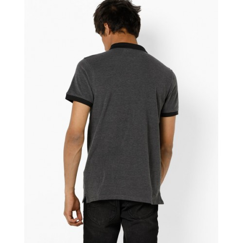 Lee Polo T-shirt with Zip Placket