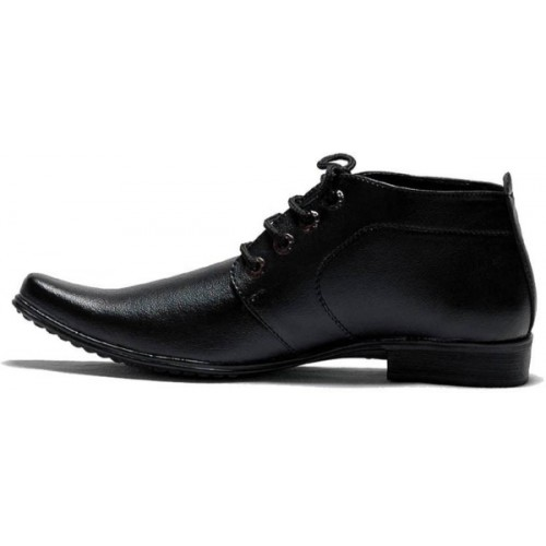 OORA Men's Faux Leather Black  Formal Shoes Size 7 UK For Men