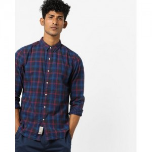 LEVIS Checked Shirt with Curved Hem