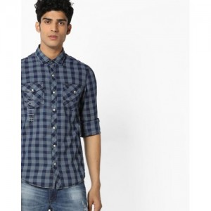 ALCOTT Checked Shirt with Snap-Button Placket
