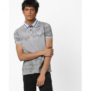 DUKE Tropical Print Slim Polo T-shirt