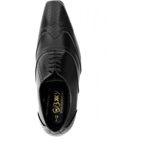 Bxxy Height Increasing British Black Brogue Lace Up For Men
