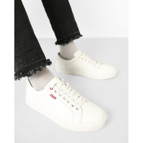 Buy LEVIS Prelude White Low-Top Lace-Up