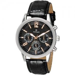 Titan Neo Analog Black Dial Watch-1734SL02