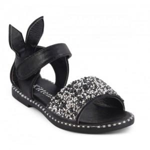 KITTENS Black Girls Velcro Flats