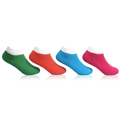 Bonjour Kids Sport Cushioned Socks for (3-5 Years) Pack Of 4 Pairs_BRO4001-02-PO4