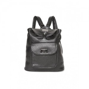Cherokee Black Textured Faux Leather Backpack