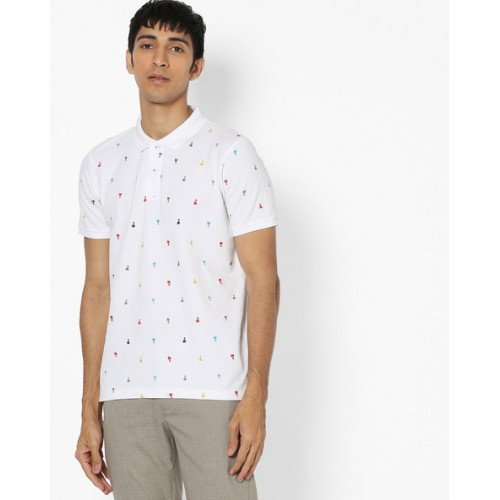 0c7fca18b81 Buy Teamspirit All-Over Print Polo T-shirt online | Looksgud.in