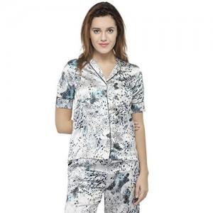 Oxolloxo Grey Animal Print Nightwear Top