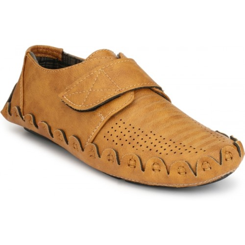 ZebX Loafers For Men(Brown)