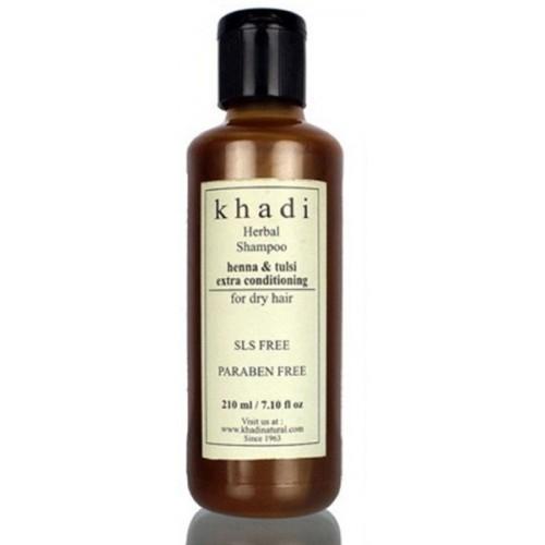 Khadi Herbal Henna & Tulsi Extra conditioning shampoo (SLS, Sulfate & Paraben Free)