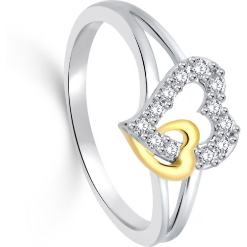 Classic Rhodium Plated Ring for Women Size12 [CJ1032FRRG12]