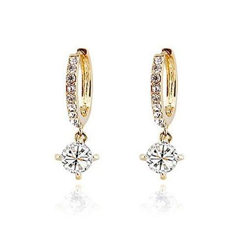 Shining Diva Gold Plated Fancy Party Wear Austrian Crystal Bali Earrings