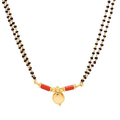 Memoir Gold plated Diamond White CZ studded Mangalsutra for Women
