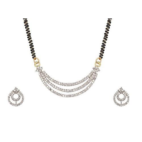 Buy cardinal american diamond mangalsutra necklace pendant set cardinal american diamond mangalsutra necklace pendant set aloadofball Images