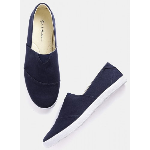 ... Mast & Harbour Navy Blue Loafers ...