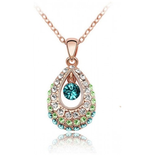 Nakabh MultiColor Gold Plated Alloy Pendant
