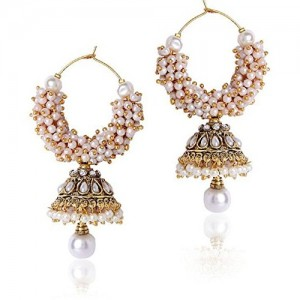 Shining Diva Jewellery Gold Plated Pearl Stylish Fancy Party Wear Jhumki & Jhumka Traditional Earrings