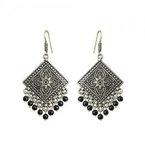 Sansar India Black Oxidised Dangle & Drop earrings