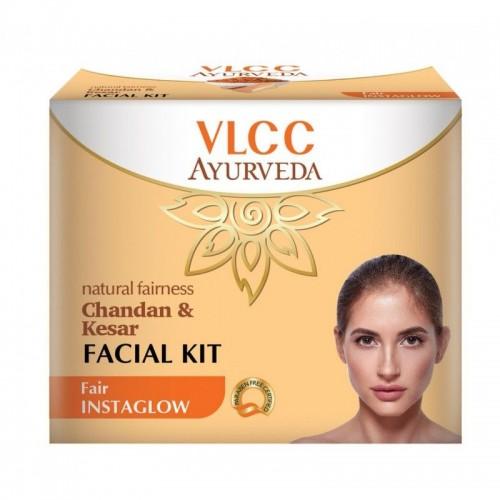 VLCC Ayurvda Natural Fairness Chandan & Kesar Facial Kit (Each 10gm)
