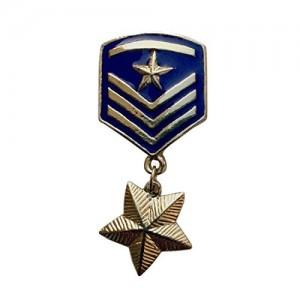 B-Fashionable Star Badge Brooch (Blue)