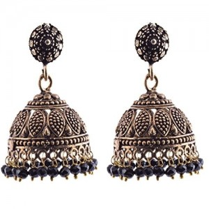 Ganapathy Gems Black Metal Jhumki Earring