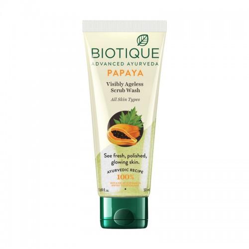 Biotique Bio Papaya Visibly Ageless Scrub Wash For All Skin Types