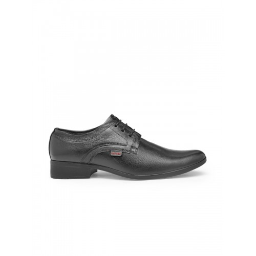 Red Chief Men Black Leather Semiformal Derbys