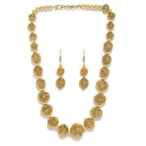 Zaveri Pearls Rajwada Style Gold Plated Long Beaded Necklace - ZPFK5418