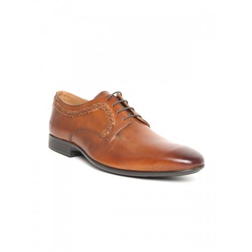 Arrow Men Tan Brown Leather Derbys