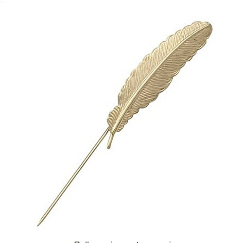 818ab3ede45 Buy Imported Feather Leaf Men s Lapel Stick Pin Tie Hat Brooch ...