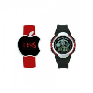 Crude Smart Combo of two Digital Watches-rg525