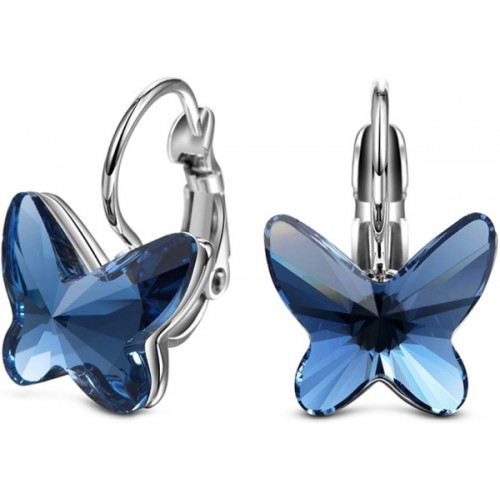Yellow Chimes YCSWER-005125-BL Swarovski Crystal Alloy Clip-on Earring