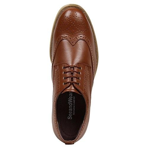 adce06e168 Buy SeeandWear Tan Brogue Formal Shoes For Men online   Looksgud.in