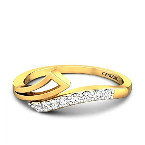 Buy Candere By Kalyan Jewellers 18KT Yellow Gold and Diamond Ring