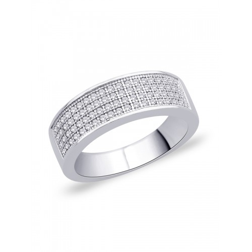 Peora Rhodium Plated Ring
