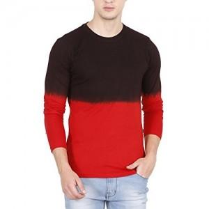 Fanideaz Branded Gradient Men's Round Neck Full Sleeve T Shirt for Men
