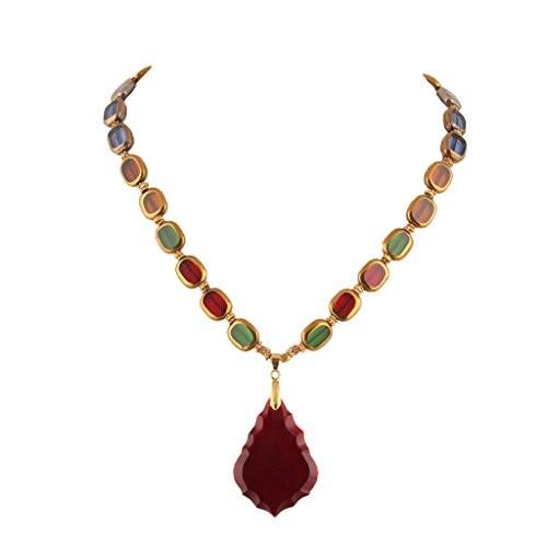 DCA Glass Women Multicolor Necklace (4362)