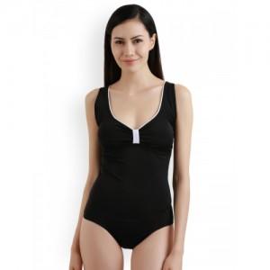 Zivame Black Solid Bodysuit ZI0806R0NS