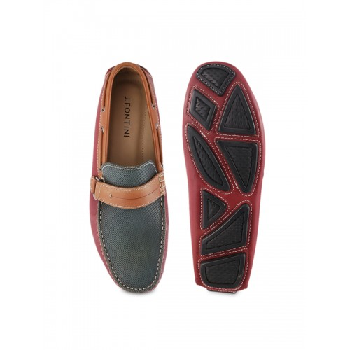655a16a0b6b Buy J.FONTINI Men Maroon Leather Loafers online