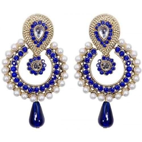 Jewels Guru Diva Style Pearl Alloy Chandbali Earring