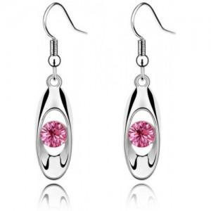 Silver Shoppee Silver Bling Crystal Alloy Dangle Earring