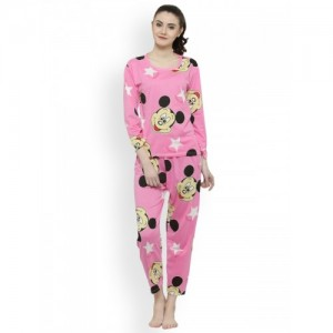 420e0f1ff3 Buy Claura Women s Printed Multicolor Top   Pyjama Set online ...